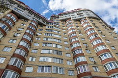 Modern residential high-rise houses in new districts of Moscow.  Stock Photos