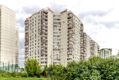 Modern residential high-rise houses in new districts of Moscow.  Stock Photo