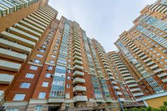 Modern residential high-rise houses in new districts of Moscow. Modern reential high-rise houses in new districts of Moscow Stock Image