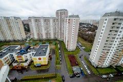 Modern residential high-rise houses in new districts of Moscow. Modern reential high-rise houses in new districts of Moscow Stock Photography