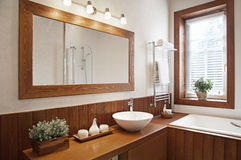 Modern Residential Home Bathroom Royalty Free Stock Photos