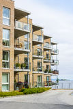 Modern residential house Trondheim Stock Photos