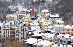Modern residential neighborhood. Kiev, Ukraine Stock Photography