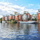 Modern residential neighborhood in Stockholm Royalty Free Stock Photos