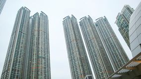 Modern residential and office buildings of skyscrapers in Hong Kong. Achievements in the field of construction of the. City infrastructure Royalty Free Stock Photography