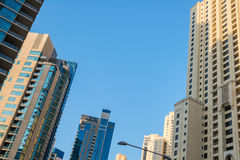 Modern residential skyscrapers Stock Photography