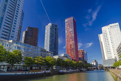 Modern residential towers in Rotterdam during clear sunny day Stock Photography