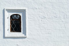 The modern residential window. In brick wall Royalty Free Stock Image