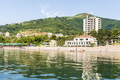 The modern resort area with new hotels in Budva on the Adriatic. Montenegro Royalty Free Stock Image