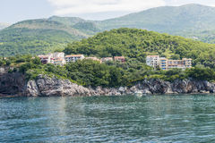 The modern resort area with new hotels in Budva on the Adriatic. Montenegro Royalty Free Stock Images