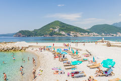 The modern resort area with new hotels in Budva on the Adriatic. Montenegro Royalty Free Stock Photography
