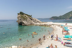 The modern resort area with new hotels in Budva on the Adriatic. Montenegro Stock Images