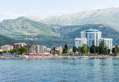 The modern resort area with new hotels in Budva on the Adriatic. Montenegro Stock Photography