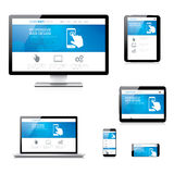Modern responsive web development computer, laptop Royalty Free Stock Images