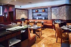 Modern restaurang arkivbild