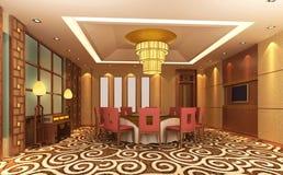 modern restaurang 3d Royaltyfri Foto
