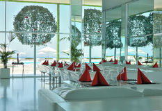 Modern restaurant. In popular hotel, Antalya, Turkey Stock Photography