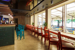 Modern restaurant, bar or cafe interior Stock Photos