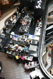 Modern restaurant cafe view from above Stock Photography