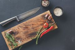 Modern restaurant cuisine background with copy space Royalty Free Stock Images