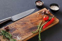 Modern restaurant cuisine background with copy space Stock Photos