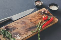 Modern restaurant cuisine background with copy space Royalty Free Stock Image