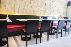 Modern restaurant. The decoration style of asian contemporay restaurant Royalty Free Stock Images