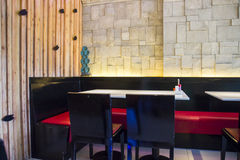 Modern restaurant. The decoration style of asian contemporay restaurant Royalty Free Stock Photos