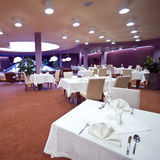 Modern restaurant interior. The interior of a modern restaurant or dining room in a hotel stock image