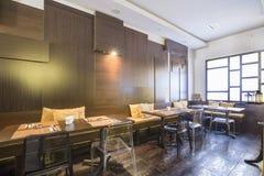 Modern restaurant interior Royalty Free Stock Photo