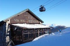 Modern restaurant on ski slope in the resort Jasna. Stock Photography