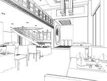 Modern Restaurant Vector 04. Modern Restaurant Isolated Illustration Vector Stock Photos