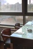 Modern restaurant voor de betere inkomstklasse stock foto