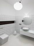 Modern restroom interior Stock Photography