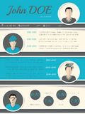 Modern resume curriculum vitae template with circle shapes Royalty Free Stock Image