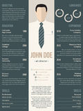 Modern resume cv template with business suit Stock Photos