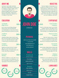Modern resume cv template for employment Royalty Free Stock Images