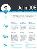 Modern resume cv template with photo pointer Stock Image