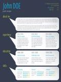 Modern resume cv template with speech bubbles Stock Photos