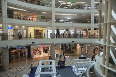 Modern retail mall interior. Royalty Free Stock Photo