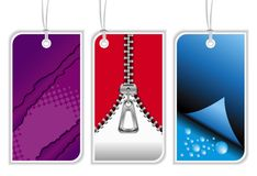Modern retail tags Stock Photography