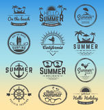 Modern retro insignia for summer holidays Stock Photography