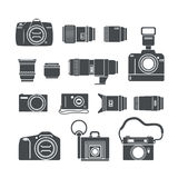 Modern and retro photo technics. Silhouettes