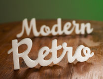 Modern and Retro Sign Stock Image