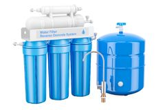 Modern Reverse Osmosis System, 3D. Rendering Stock Images