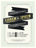 Modern Ribbon banner Wedding invitation template