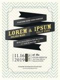 Modern Ribbon banner Wedding invitation template royalty free illustration