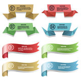 Modern ribbons and banners Royalty Free Stock Photos