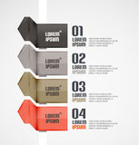Modern ribbons infographic background Stock Images