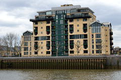Modern Riverside Docklands Housing Stock Photography
